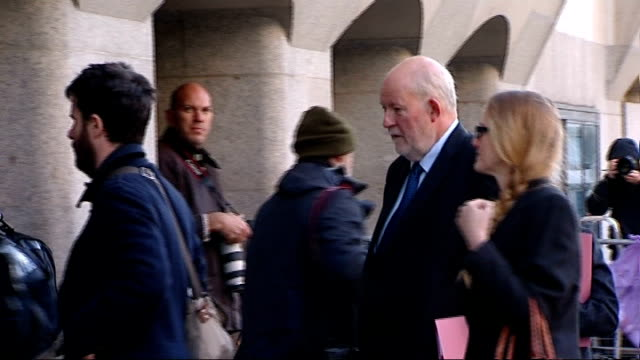 former home secretary's aide had phone hacked; england: london: old bailey: ext charles clarke arriving at court hannah pawlby arriving at court - charles clarke uk politician stock videos & royalty-free footage
