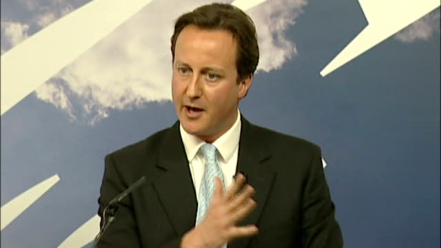 political conseqences of verdict file 2007 david cameron press conference sot there are things i've done better than other things and you learn as... - conference phone stock videos & royalty-free footage