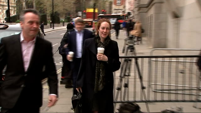 Sara Payne gives evidence ENGLAND London Old Bailey Rebekah Brooks and and husband Charlie Brooks along and into court holding paper cups