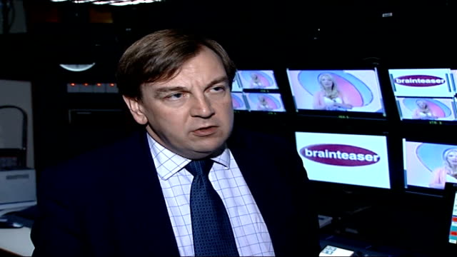 phone quiz scandal continues as channel five suspends quiz show; john whittingdale mp interview sot - cosumers are being defrauded - television game show stock videos & royalty-free footage