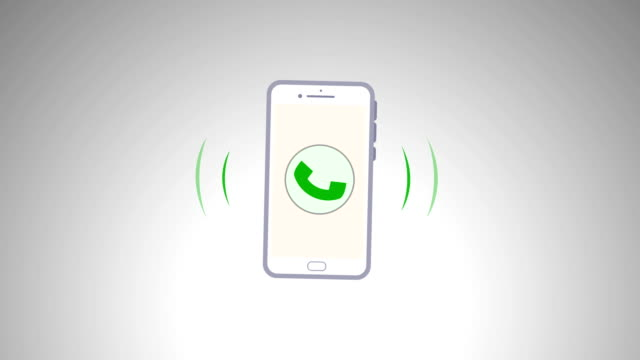 4k phone ring animation. cellphone with moving signal bars - infographic stock videos & royalty-free footage