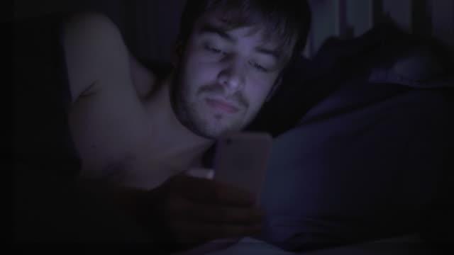 Phone text message, in bed. Broken sleep. 3