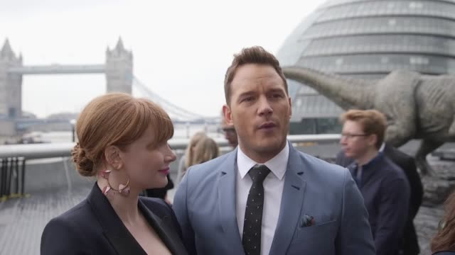 Fallen Kingdom outside City Hall Interviews include Chris Pratt and Bryce Dallas Howard Jeff Goldblum director JA Bayona and screenwriter Colin...