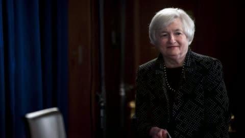 vídeos de stock, filmes e b-roll de photo montage of janet yellen, chair of the u s federal reserve - presidente de empresa