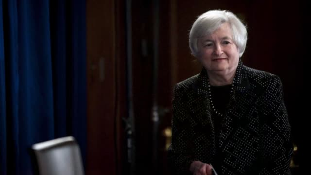 Photo montage of Janet Yellen chair of the U S Federal Reserve