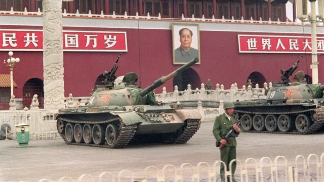 afp photo slideshow of the 1989 tiananmen square protests in beijing ahead of the 30th anniversary of the crackdown - tiananmen square stock videos & royalty-free footage