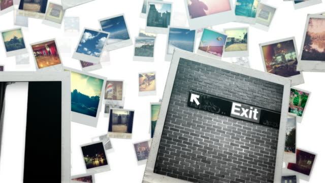 photo travel bright - polaroid stock videos & royalty-free footage