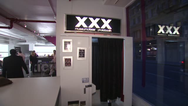 photobooth at ky brand celebrates the launch of the big fun sexy sex book with coauthors lisa rinna and dr ian kerner at the museum of sex on in new... - lisa rinna stock videos and b-roll footage