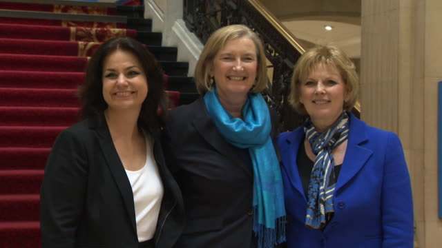 photocall with the 3 conservative mp's heidi allen anna soubry and sarah wollaston who defected from their party to join the independent group /... - heidi allen stock videos & royalty-free footage