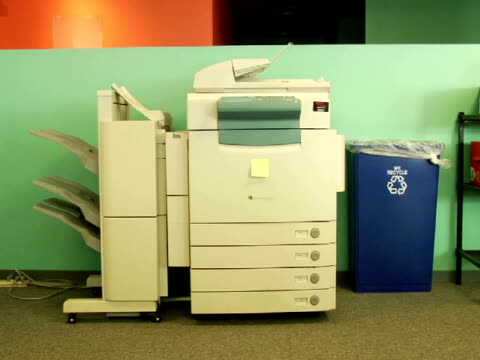 ms, photocopier in office - photocopier stock videos and b-roll footage