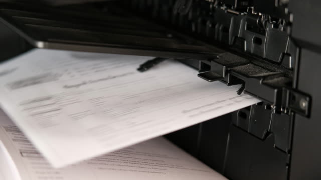 photocopier printing documents - photocopier stock videos and b-roll footage