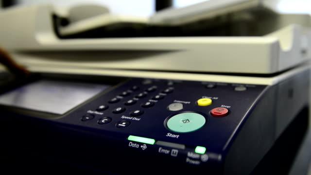 photocopier - fax machine stock videos & royalty-free footage
