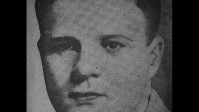 """photograph charles """"pretty boy"""" floyd / mug shot lester gillis/george nelson, a/k/a """"baby face"""" nelson / note: exact month/day not known; film has... - mug shot stock videos & royalty-free footage"""