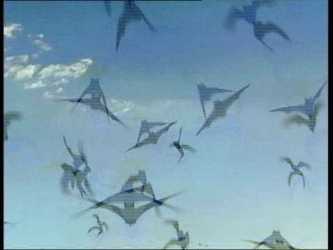 photograph from turner prize nominee jeremy deller's the bats from memory bucket 2003 england: london: int people looking at the turner prize 2004... - bucket list stock videos & royalty-free footage