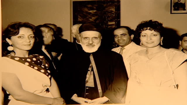 vidéos et rushes de photograph of maronite patriarch mar nasrallah boutros sfeir. he was the third maronite cardinal and the 76th patriarch of the maronite church. he... - religion