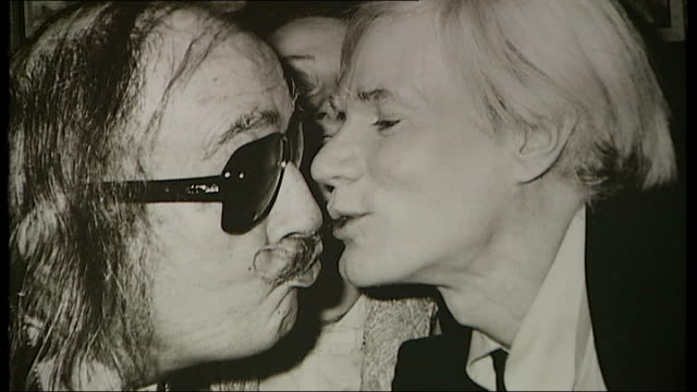 Photograph of Salvador Dali and Andy Warhol