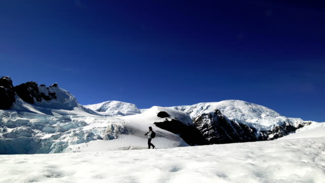 Photographer Hiking in Antarctica