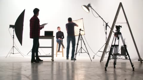 photographer in the studio - photographer stock videos & royalty-free footage