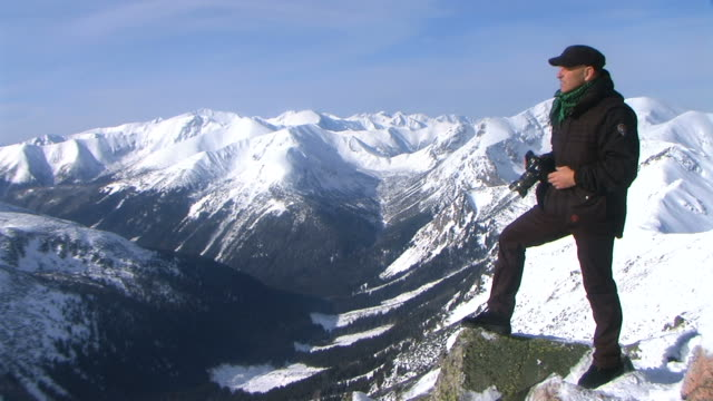 Photographer in the Tatra Mountains
