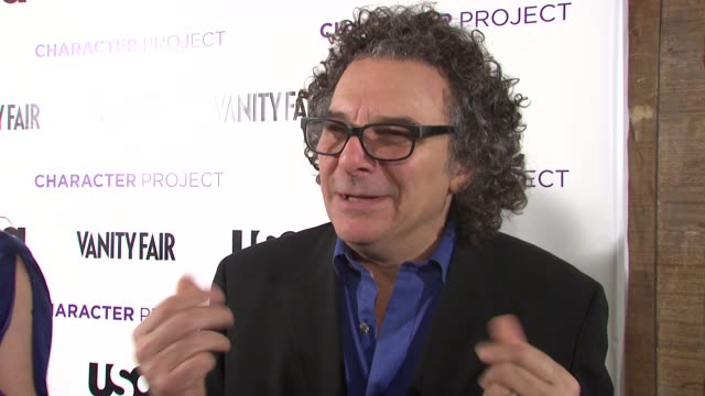 Photographer Jeff Dunas talking about his photos and working on the project at the USA Network and Vanity Fair Celebrate Launch of Character Project...