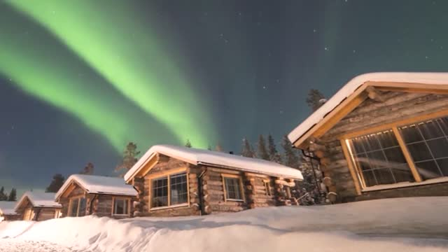 photographer living in finnish lapland captured a remarkable timelapse of the region's breathtaking aurora borealis, a phenomenon generally visible... - light natural phenomenon stock videos & royalty-free footage
