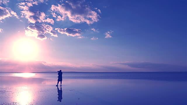 photographer on the lake