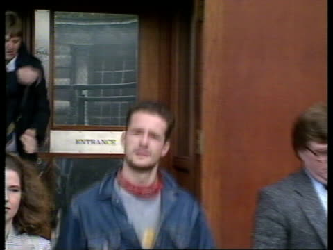 Photographer released without charge EXT Belfast Nick Vogel exits Court surrounded by press