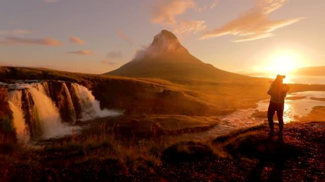 Fotograf Aufnahmen Kirkjufellsfoss Wasserfall am Morgen, Island
