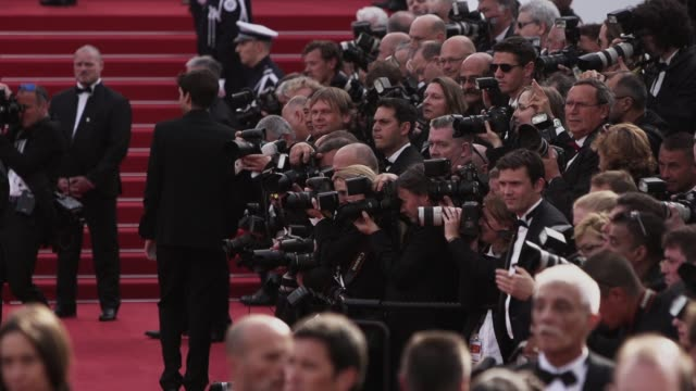 ATMOSPHERE Photographers at Opening Ceremony 'La Tete Haute' Red Carpet at Palais des Festivals on May 13 2015 in Cannes France