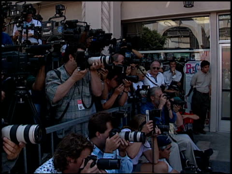 photographers at the dedication of james brolin's hollywood walk of fame star at 7018 hollywood blvd in los angeles, california on august 27, 1998. - james brolin stock videos & royalty-free footage