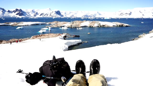 photographers in antarctica - antarctica people stock videos & royalty-free footage