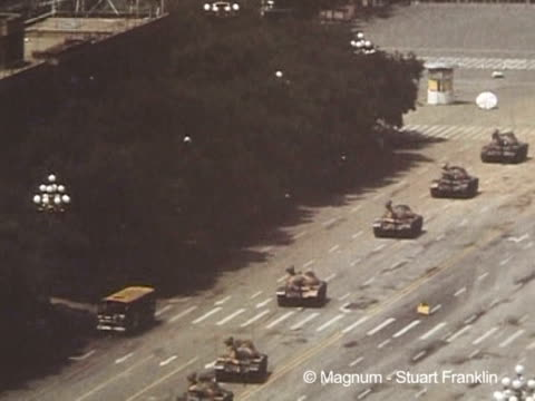 photographers patrick zachmann and stuart franklin witnessed the tiananmen studentled street protests first hand covering the prodemocracy... - tiananmen square stock videos & royalty-free footage
