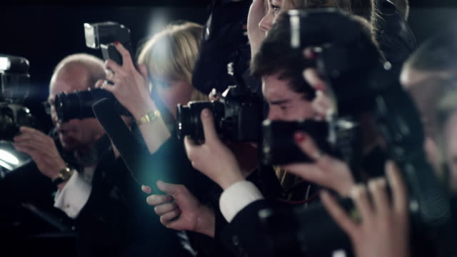 photographers - paparazzi photographer stock videos & royalty-free footage