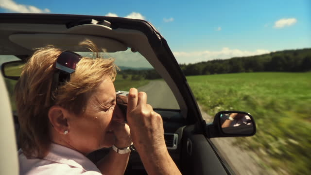 hd: photographing in a convertible - old convertible stock videos & royalty-free footage