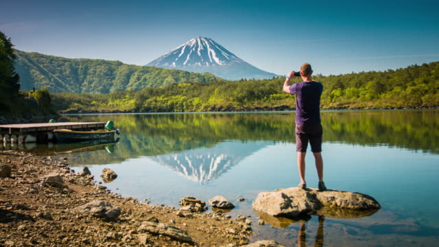 photographing mount fuji - photographing stock videos & royalty-free footage