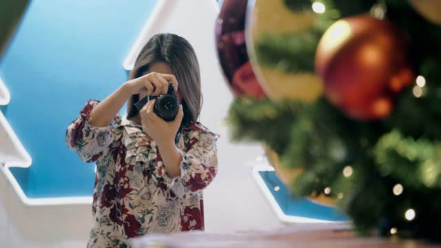 photographing of christmas event - photographer stock videos & royalty-free footage