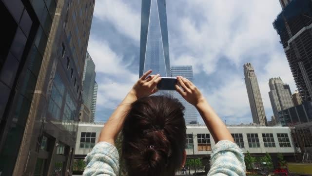 vidéos et rushes de photographier la freedom tower - photographing