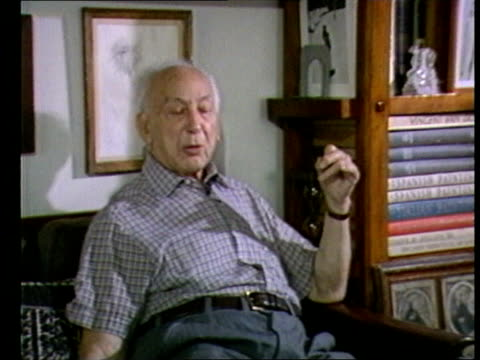 andre kertesz interview; int andre kertesz interview sot - importance of looking kertesz taking photographs of glass obkects on his window ledge -... - polaroid stock videos & royalty-free footage