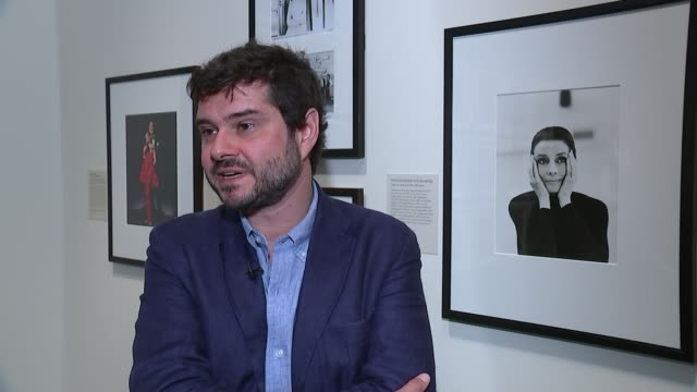 audrey hepburn exhibition at national portrait gallery; luca dotti interview sot - the biggest compliment she would ever take for was for her work,... - audrey hepburn stock videos & royalty-free footage