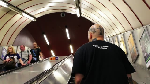 former graffiti vandal turned photographer launches book on bakerloo line england london ext **music overlaid sot** harry f conway interview sot shot... - image manipulation stock videos and b-roll footage