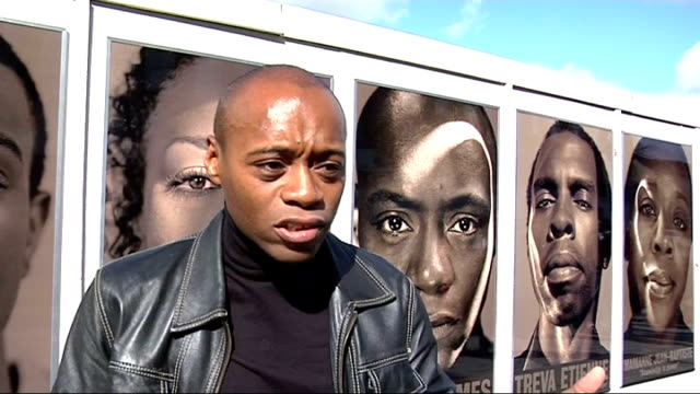 Photography project to encourage more black role models ENGLAND London EXT Fraser James interview SOT There are black role models right across the...