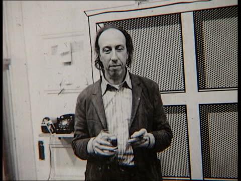 richard hamilton polaroid exhibition; music overlay: polaroid photos of richard hamilton in display in art exhibition music ends - polaroid stock videos & royalty-free footage