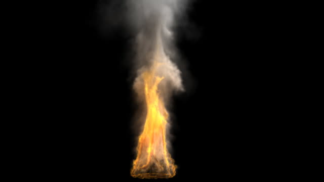 photorealistic fire with alpha track - flaming torch stock videos & royalty-free footage