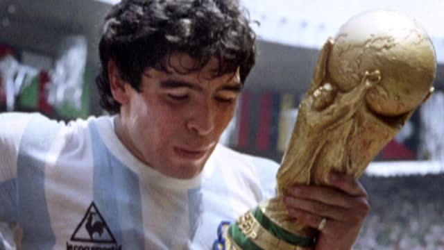 photos of diego maradona taken during the 1986 world cup - argentina stock videos & royalty-free footage