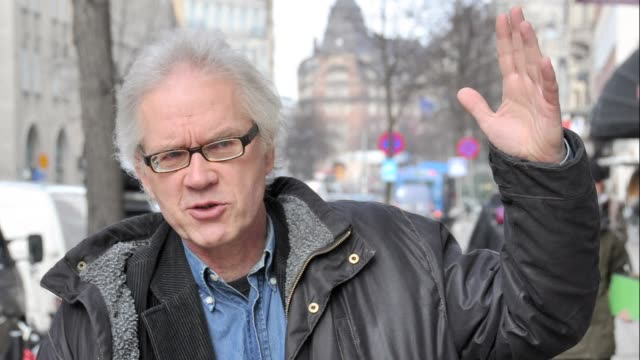 stockvideo's en b-roll-footage met photos of lars vilkt swedish cartoonist who has previously faced death threats over caricatures of the prophet muhammad who was left unhurt after... - cartoonist