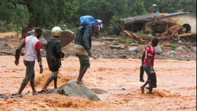 AFP photos show mudslides in Sierra Leone which have left hundreds dead and more than 2000 homeless