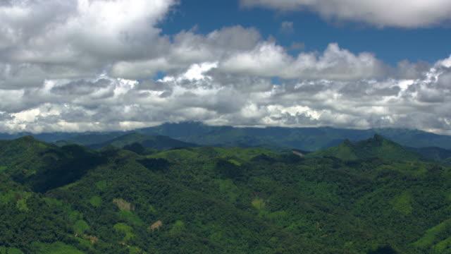 phoukhoun landscape, laos - mountain range点の映像素材/bロール