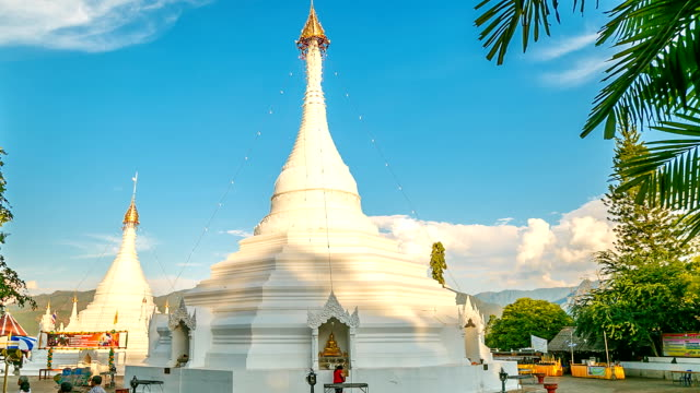phra that doi kong mu temple. - mae hong son province stock videos and b-roll footage
