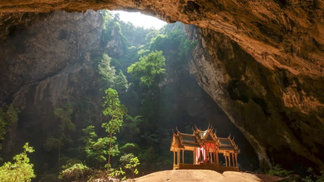 phraya nakorn cave, sam roi yot, thailand - cave stock videos and b-roll footage