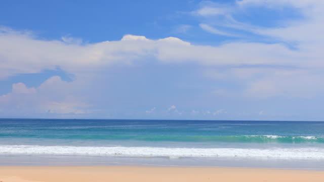 phuket beach sea, view of beach sea on sun light in the summer. - seascape stock videos & royalty-free footage